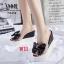 รองเท้าแตะส้นเตารีดเสริมส้นแบบสวมพลาสติกใสนิ่มแต่โบว์ด้านบน thumbnail 2