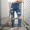 กางเกงยีนส์ทรงบอยสีฟอก