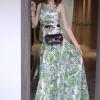 Dress คอกลมแขนกุด เนื้อผ้าพิมพ์ลายคมชัดรอบตัว