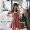 Dress จุดสุดน่ารัก สีชมพูพลีท