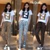 Set Fendi สั้น+กางเกงขายาว พิมลาย