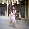 Dress คอวีแขนยาว
