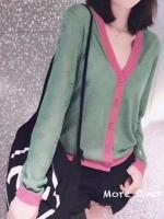 เสื้อคาดิแกนสีเขียวสวยมากคะ แบรนด์ Gucci