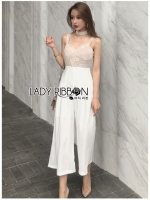 Cecilia Heart-Shaped Lace & Crepe Jumpsuit