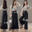 Flower Kelly String Top With Hight Waist Pants Set thumbnail 4