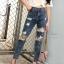 กางเกงยีนส์ทรงบอยสีฟอก thumbnail 3