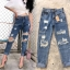 กางเกงยีนส์ทรงบอยสีฟอก thumbnail 14