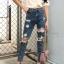 กางเกงยีนส์ทรงบอยสีฟอก thumbnail 6