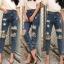 กางเกงยีนส์ทรงบอยสีฟอก thumbnail 12