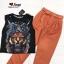 Set เสื้อยืดแขนกุด กางเกงขายาวเอวสูง thumbnail 7