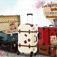 กระเป๋าเดินทางวินเทจ รุ่น retro brown ขนาด 12 นิ้ว