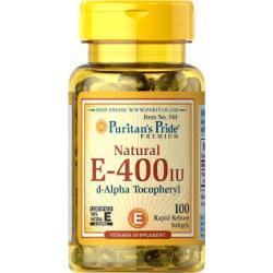 Puritan's Pride Vitamin E-400 iu 100% Natural / 100 Softgels