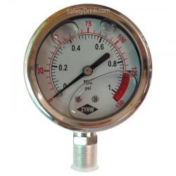 Pressure Gauge 0-150 PSI(L)