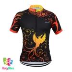 เสื้อจักรยานผู้หญิงแขนสั้น DISIDA 18 (01) สีดำลายส้ม
