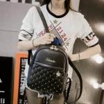 กระเป๋าเป้สะพายหลัง กระเป๋าเป้เกาหลี กระเป๋าสะพายหลังผู้หญิง (สีดำ)
