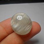 แก้วพิรุณแสนห่า เส้นพริ้วสวยงาม น้ำงาม ขนาด 2.5x2.2cm ทำหัวแหวน งามๆ