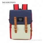 กระเป๋าเป้ กระเป๋าสะพายหลังสีดำ Woman Backpack No.0224 สีขาวแดง