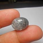 แก้วขนเหล็ก เส้นเหลือบรุ้ง สวย ขนาด 1.8x 1.4 cm ทำแหวน จี้