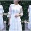 เดรสยาวผ้าลูกไม้สีขาวสไตล์เจ้าหญิง thumbnail 2