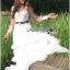 เดรสยาวผ้าลูกไม้สีขาวทอลายดอกเดซี่ตกแต่ผ้าทูลเล thumbnail 8