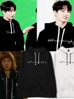 เสื้อฮู้ดแจ็คเก็ตเกาหลี คิมบ๊กจู สกรีนลายอักษร มี5สี