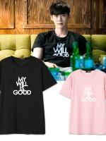 เสื้อยืดแขนสั้นเกาหลี คังชอล W Two Worlds มี6สี