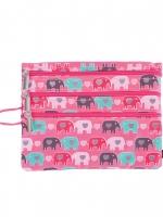 3 Zip Organizer Fun Love Elephant Love