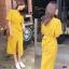Maxi Dress แม็กซี่เดรสผูกเอว งานซิปหลัง thumbnail 3