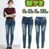 กางเกงยีนส์เอวต่ำ สีฟอกสนิมฟ้าเทา แบบสวย ทรงสวย ผ้ายืด มี SIZE S,M,L,XL