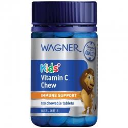 WAGNER Kid's Vitamin C Chew 100 เม็ด วิตามินซีแบบอมสำหรับคุณหนูๆอายุ 3 ขวบขึ้นไป จากออสเตรเลียค่ะ
