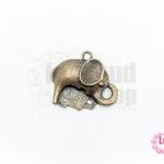 จี้ทองเหลือง รูปช้าง 23X26 มิล (1ชิ้น)