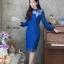 ชุดเดรสเกาหลี พร้อมส่ง Dress ลูกไม้แขนชีฟอง thumbnail 11