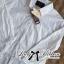 พร้อมส่ง เชิ้ตสีขาวตัดต่อชายลูกไม้สไตล์มินิมัล เสื้อผ้าแฟชั่น thumbnail 5