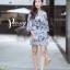 เดรสเกาหลี พร้อมส่ง Dress.พิมพ์ลายผ่าปลาย thumbnail 4