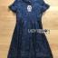 เดรสเกาหลี พร้อมส่ง เดรสผ้าลูกไม้ สีน้ำเงินเข้ม thumbnail 18