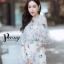 เสื้อผ้าเกาหลี พร้อมส่ง จั๊มสูท ผ้าปักลายลูกไม้แต่งระบายอก thumbnail 8