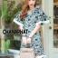 ชุดเดรสเกาหลี พร้อมส่ง Maxi dress ผ้าลูกไม้ thumbnail 4