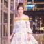 เดรสเกาหลี พร้อมส่ง เดรสกระโปรงดอก 3D thumbnail 12