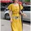 เสื้อผ้าเกาหลี พร้อมส่ง เสื้อคร็อปสั้นและกระโปรงสีเหลือง thumbnail 6