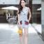 เสื้อผ้าเกาหลี พร้อมส่ง จั๊มสูท แขนกุดผ้าลูกไม้ติดกุหลาบ thumbnail 3
