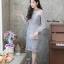 ชุดเดรสเกาหลี พร้อมส่ง Dress ลูกไม้แขนชีฟอง thumbnail 3
