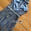 เสื้อผ้าเกาหลี พร้อมส่ง จัมป์สูท ผ้าพลีตสีน้ำเงิน thumbnail 15