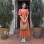 ชุดเดรสเกาหลี พร้อมส่ง Dress คอเหลี่ยม เอวสม๊อคหลัง thumbnail 2