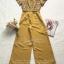 เสื้อผ้าเกาหลี พร้อมส่ง จั๊มสูท ทรงคอยูทรงแขนระบายๆ thumbnail 10