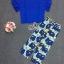 พร้อมส่ง เสื้อกับกางเกงขาสี่ส่วนพิมพ์ลายดอกไม้ thumbnail 5
