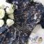 ชุดเดรสเกาหลี พร้อมส่ง เดรสสี้นำเงิน สลับดอกไม้กับใบไม้ thumbnail 16