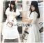 ชุดเดรสเกาหลี พร้อมส่ง เดรสผ้าคอตตอนสีขาวฉลุลาย thumbnail 4