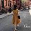 เดรสเกาหลี พร้อมส่ง Dress ผ้าซาติน thumbnail 6