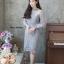 ชุดเดรสเกาหลี พร้อมส่ง Dress ลูกไม้แขนชีฟอง thumbnail 2