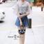 เสื้อผ้าเกาหลี พร้อมส่ง ชุดเซ็ทเสื้อปัก+ยีนส์ขาสั้น thumbnail 5